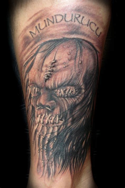 shrunken head tattoo by chris clark picture