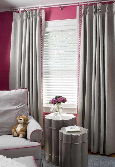 grey nursery curtains chic raspberry and gray nursery project nursery