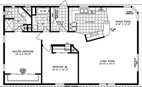 jacobsen mobile home floor plans the tnr 2453b manufactured home floor plan jacobsen