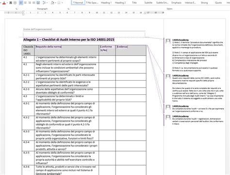 auditing interno kit per audit interno iso 14001 2015