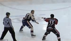 Fighting Looks Still by Is This The Wussiest Hockey Fight Two Players
