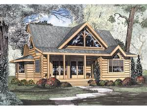 Cabin Style Home Logan Creek Log Cabin Home Plan 073d 0005 House Plans