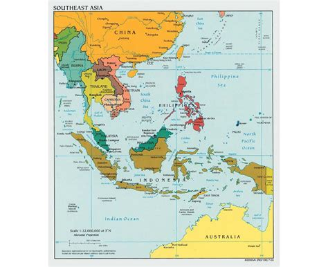 political map of asia with capitals maps of southeast asia southeast asia maps collection