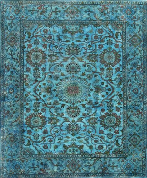Blue Overdyed Rug by Overdyed Blue Rug Area Rugs Other Metro By