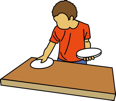 set the table in table set clipart clipground