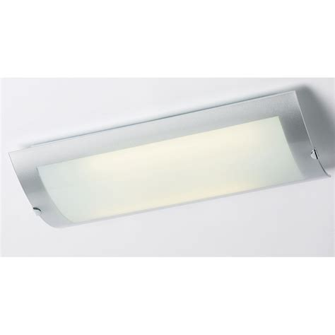 Kitchen Ceiling Lights Endon Endon 1405 45 2 Light Modern Low Energy Flush Kitchen Ceiling Light Opal Glass Chrome