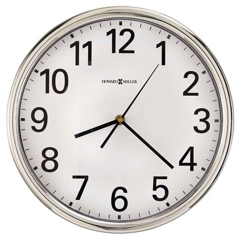 wall clocks hamilton wall clock by howard miller office wall clocks