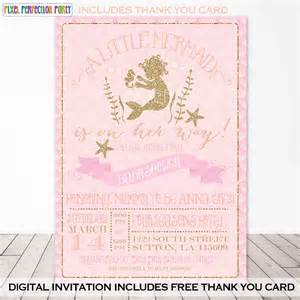 mermaid baby shower invitation mermaid by pixelperfectionparty