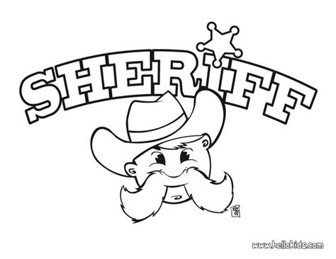 sheriff coloring coloring pages