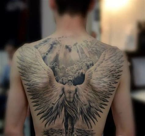 angel tattoo at the back angels tattoo angel tattoo designs and tattoo designs on