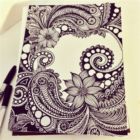 zendoodle ideas zen tangle