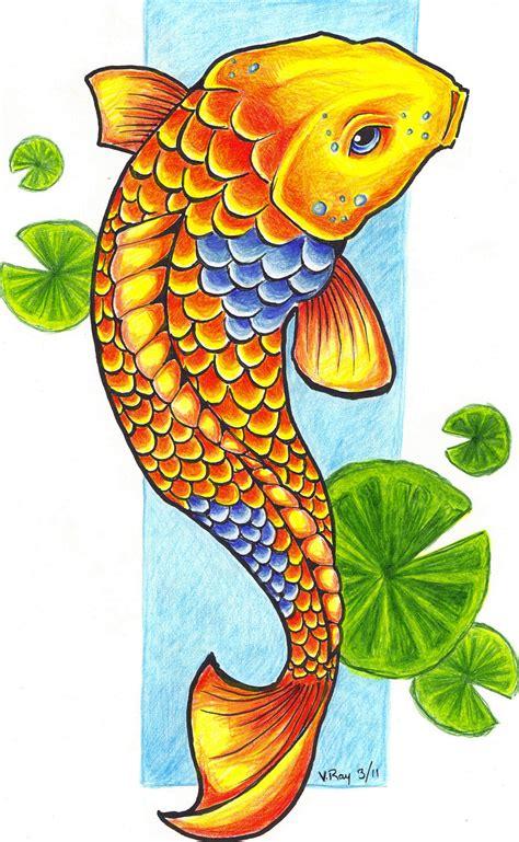 koi fish drawing color koi fish by flickter88 on deviantart