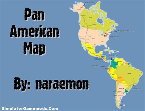map mexico usa canada haulin pan american map simulator mods