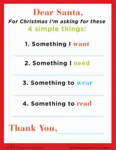 dear santa template kindergarten letter worksheets education
