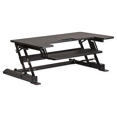 sit and stand desk platform flash furniture 36 25 inch sit and stand adjustable