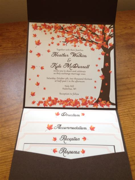 Fall Themed Wedding Invitations