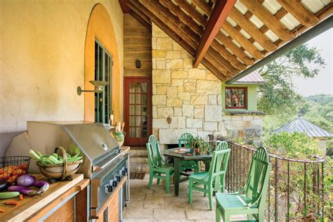 traditional outdoor kitchens  house journal magazine