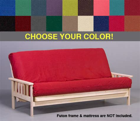 premium futon cover solid color