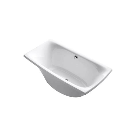 kohler acrylic bathtub reviews kohler escale 6 ft acrylic bathtub with center drain in white k 11344 0 the home depot