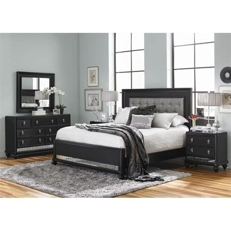 Black King Bedroom Sets Midnight Black King 6 Bedroom Set