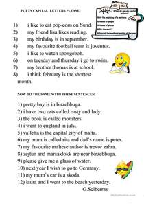 84 free esl punctuation worksheets