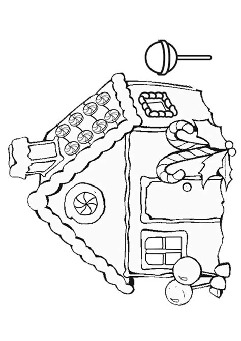 Free Online Gingerbread House Colouring Page Free Gingerbread Coloring Pages