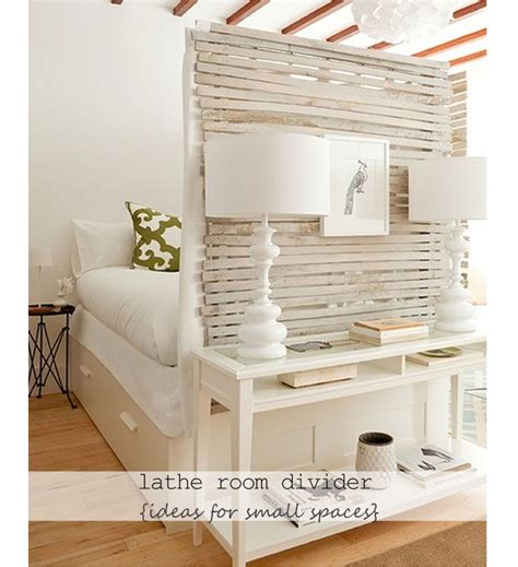 decorating a small space on a budget recycled lathe room divider diy small apartment