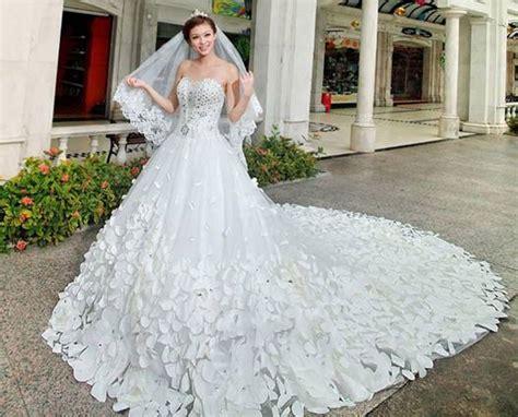 Garden Wedding Flower Dresses by Flower Wedding Gown Ideas To Add Vibrancy Weddceremony