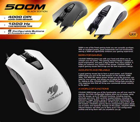 Mouse Gaming Gaming Mouse 500m Black White 500m rgb optical gaming mouse black cgr 500m black pc gear