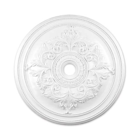 Ceiling Medallion Lowes by Shop Livex Lighting White Ceiling Medallion At Lowes