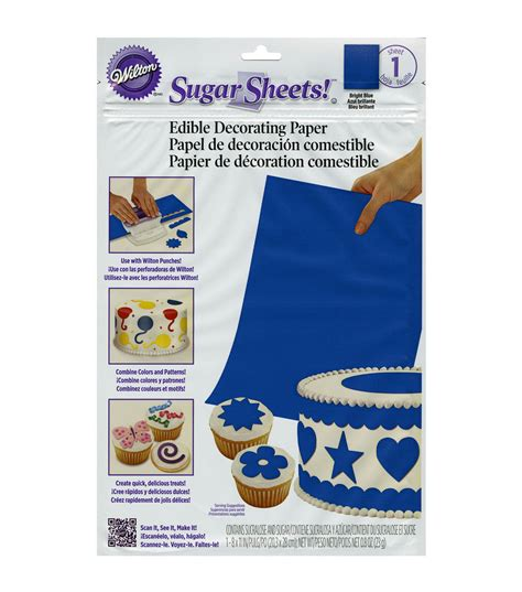 How To Make Sugar Sheets Edible Decorating Paper - wilton sugar sheets edible decorating paper 1pk jo