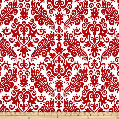 white pattern material riley blake large damask white red discount designer