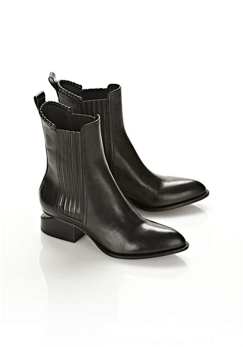 wang boots wang anouck chelsea boots in black lyst