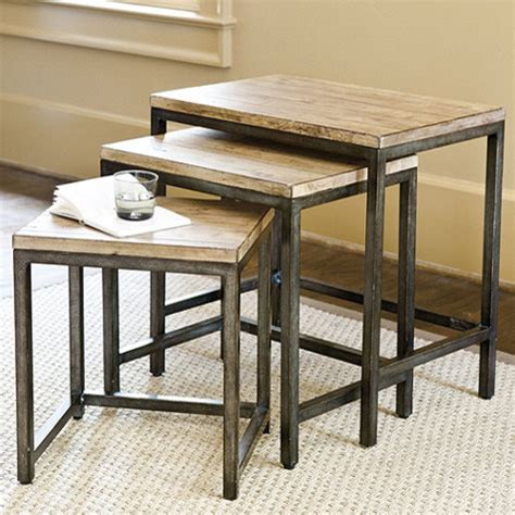 durham nesting tables industrial side tables and end