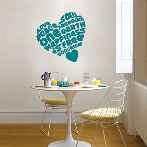 trendy wall designs peaceful heart wall sticker trendy wall designs