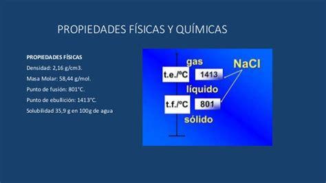 cuales son las sales neutras propiedades f 237 sicas y qu 237 micas del nacl