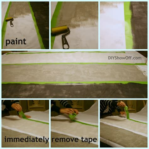 how to get paint off curtains how to paint horizontal striped curtain panelsdiy show off