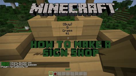 how to build a shop minecraft how to make a sign shop youtube