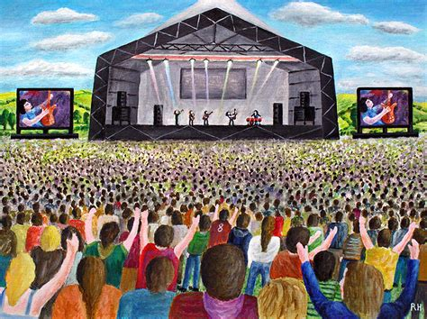 the painting festival glastonbury festival painting by ronald haber