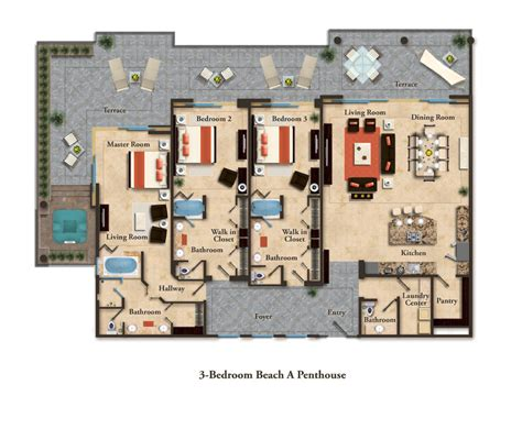 penthouse layouts suite layouts garza blanca residence club