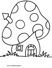 dessin champignons imprimer az coloriage