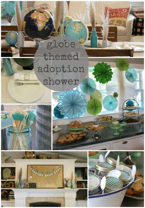 Adoption Shower Ideas by Globe Themed Adoption Shower The Pleated Poppy