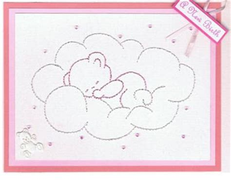embroidery floss card template embroidered cards by edith