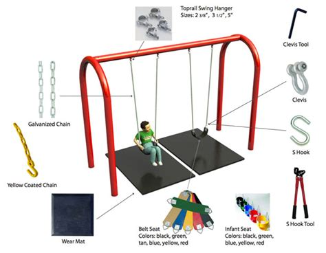 parts of a swing playground parts recsportshop com