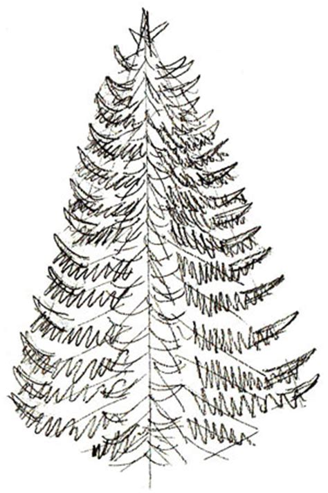 how to draw a christmas tree draw step by step