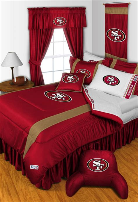 49er comforter nfl san fancisco 49ers bedding and room decorations
