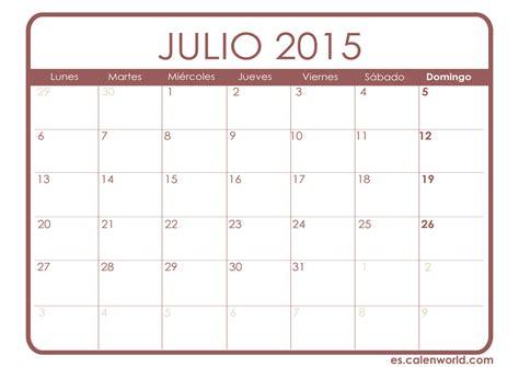 Calendario Julio 2015 Para Imprimir Calendario Julio 2015 Calendarios Para Imprimir