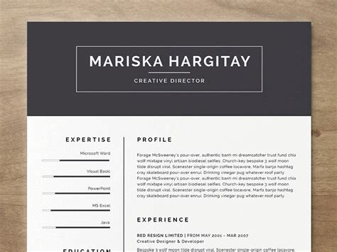 Resume Template Free Microsoft Word by 20 Beautiful Free Resume Templates For Designers