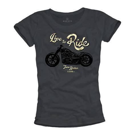 Motorrad Chopper Damen by Motorrad T Shirt F 252 R Frauen Biker Chopper Rockabilly Damen