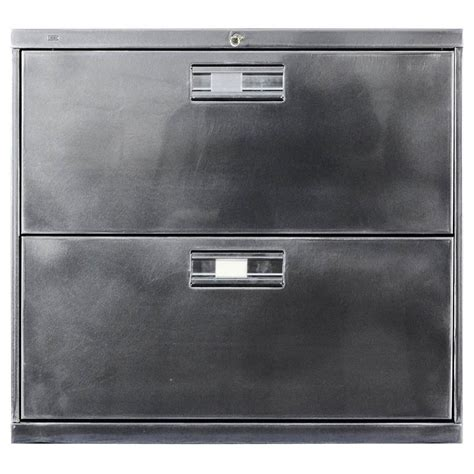 steel lateral file cabinet polished steel two drawer lateral file cabinet at 1stdibs